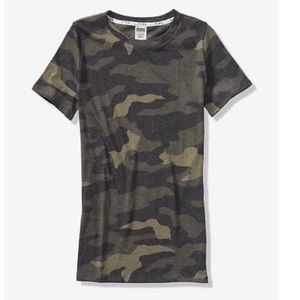 Victoria's Secret perfect crew camo new large